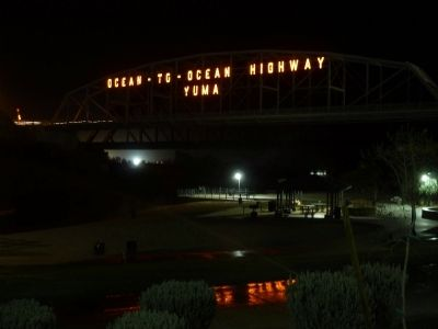 Ocean-to-Ocean Bridge Highway Bridge at Night image. Click for full size.