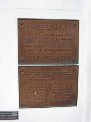 Sanchez House Marker image. Click for full size.