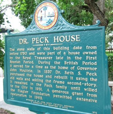 Dr. Peck House Marker image. Click for full size.