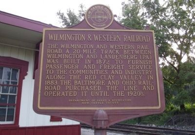 Wilmington & Western Railroad Marker image. Click for full size.