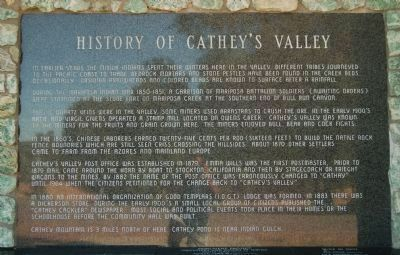 History of Cathey's Valley Panel. image. Click for full size.