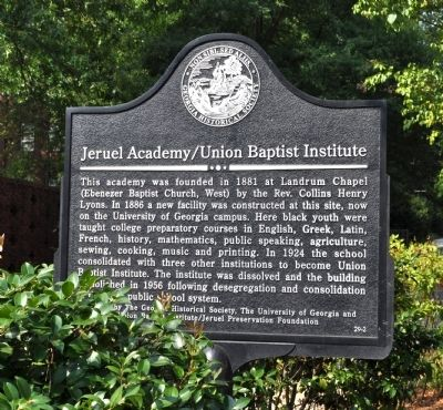 Jeruel Academy/Union Baptist Institute Marker image. Click for full size.