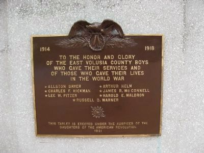 World War I Memorial Plaque image. Click for full size.