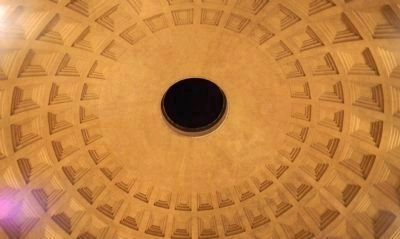 The Pantheon copula, interior view at night image. Click for full size.