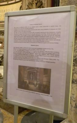 Historical signage in the Pantheon - at the tomb of the artist Raphael image. Click for full size.