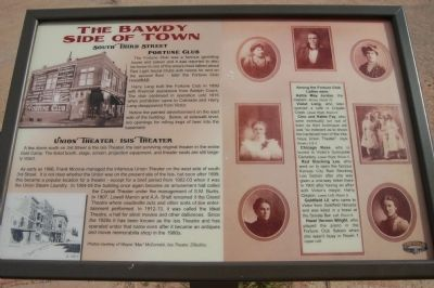 The Bawdy Side of Town Marker image. Click for full size.