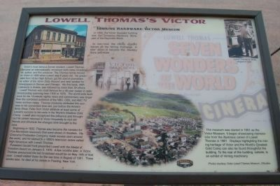 Lowell Thomas�s Victor Marker image. Click for full size.