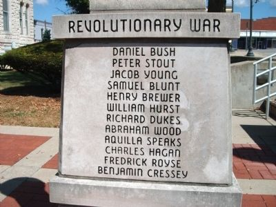 "Panel 'One' - Revolutionary War - Memorial ""One"" Photo, Click for full size"