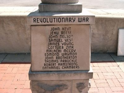 "Panel 'Four' - Revolutionary War Memorial ""One"" Photo, Click for full size"