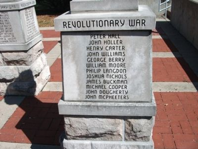 "Panel 'One' - Revolutionary War - Memorial ""Two"" Photo, Click for full size"