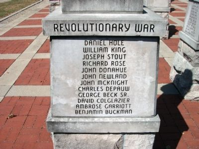 "Panel 'Two' - Revolutionary War Memorial ""Two"" Photo, Click for full size"