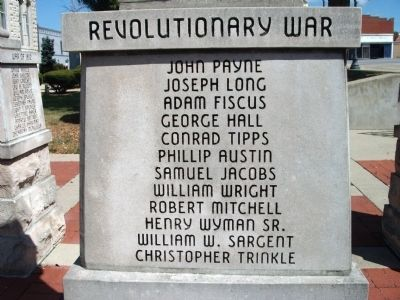 "Panel 'One' - Revolutionary War - Memorial ""Three"" Photo, Click for full size"