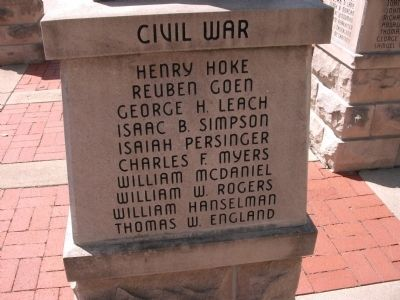 "Panel 'Three' - Civil War - Memorial ""One"" Photo, Click for full size"
