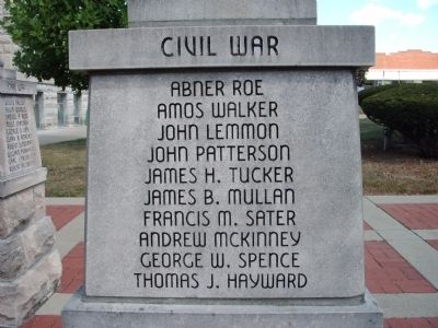 "Panel 'One' - Civil War - Memorial ""Two"" Photo, Click for full size"