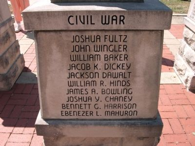 "Panel 'Three' - Civil War - Memorial ""Two"" Photo, Click for full size"