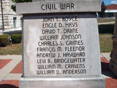 "Panel 'One' - Civil War - Memorial ""Four"" Photo, Click for full size"