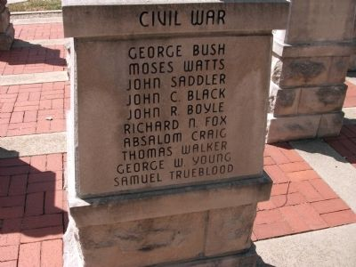 "Panel 'Three' - Civil War - Memorial ""Four"" Photo, Click for full size"