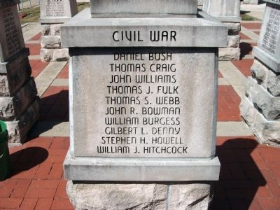"Panel 'Two' - Civil War - Memorial ""Five"" Photo, Click for full size"