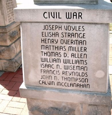 "Panel 'Three' - Civil War - Memorial ""Five"" Photo, Click for full size"