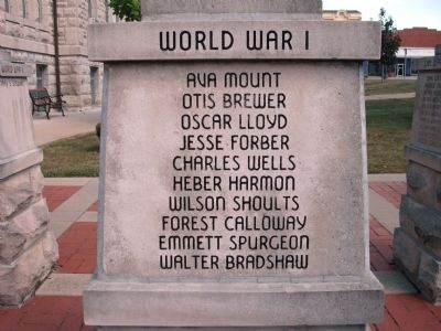 "Panel 'One' - World War I - Memorial ""One"" Photo, Click for full size"