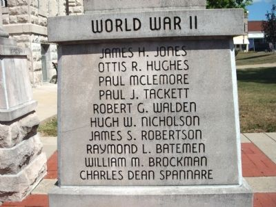"Panel 'One' - World War II - Memorial ""One"" Photo, Click for full size"