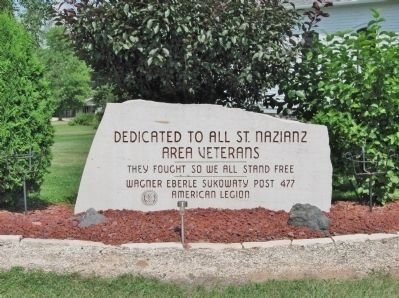 St. Nazianz Area Veterans Memorial image. Click for full size.