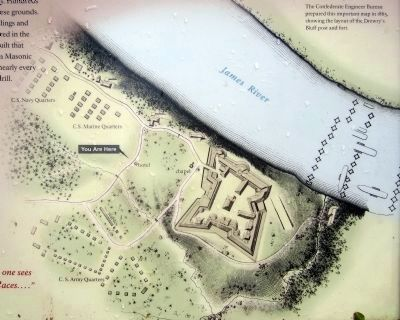 Map of Drewry's Bluff post & fort image. Click for full size.