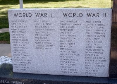 Left - Front - - All Veterans Honor Roll Memorial Marker Photo, Click for full size