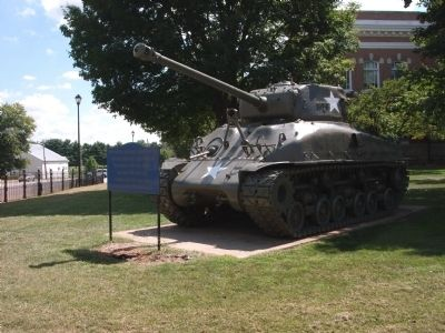 Tank on Courthouse Lawn - A short walk to the north. Photo, Click for full size