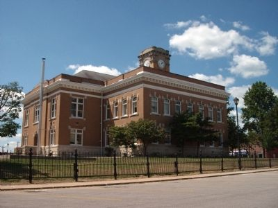 North/East Corner - - Jackson County Courthouse - - Brownstown, Indiana Photo, Click for full size