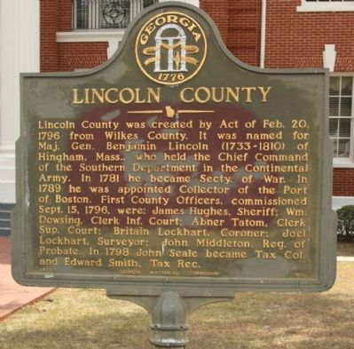 Lincoln County Marker image. Click for full size.