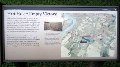 Fort Hoke: Empty Victory Marker Photo, Click for full size
