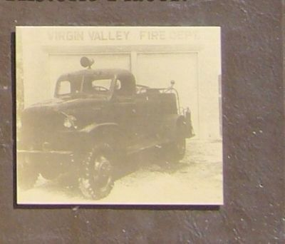 Close-Up Photo of First Fire Truck Displayed on Marker image. Click for full size.