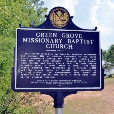 Green Grove Missionary Baptist Church / Green Grove Schoolhouse Marker image. Click for full size.