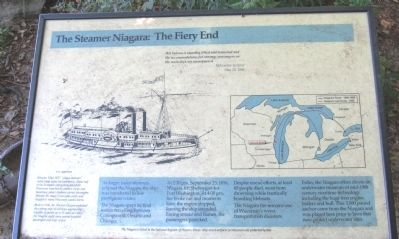 The Steamer Niagara: The Fiery End Marker image. Click for full size.