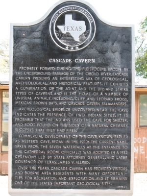 Cascade Cavern Marker Photo, Click for full size