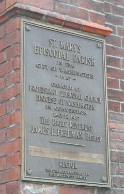 St. Mary's Episcopal Church Marker Panel 3 image. Click for full size.