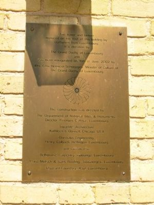 Commemorative Marker near front door image. Click for full size.