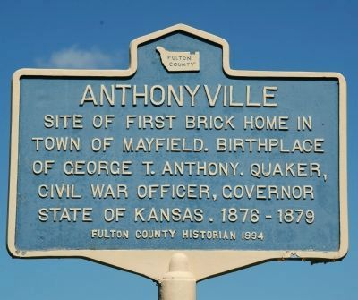 Anthonyville Marker image. Click for full size.