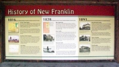 History of New Franklin Marker image. Click for full size.