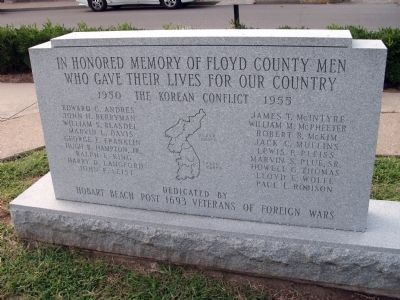 Korean Conflict Honor Roll - Floyd County Marker image. Click for full size.