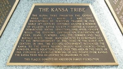 The Kansa Tribe Marker image. Click for full size.