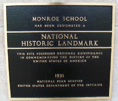 Monroe School NHL Marker image. Click for full size.