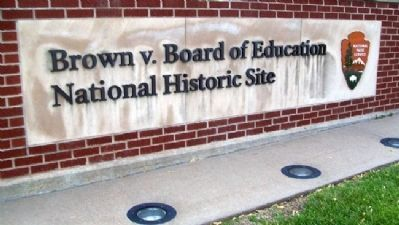 Brown v. Board of Education National Historic Site Sign image. Click for full size.