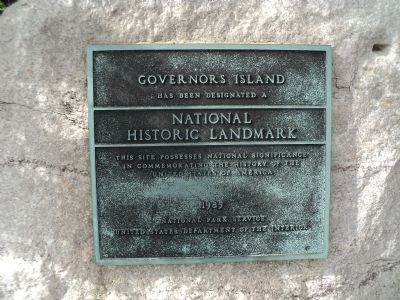 Governors Island Marker image. Click for full size.