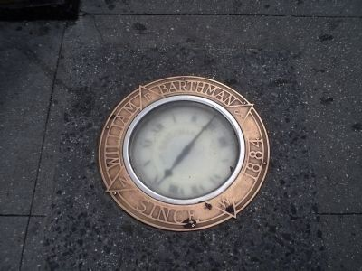 Clock in the Sidewalk image. Click for full size.