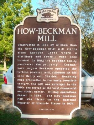 How-Beckman Mill Marker image. Click for full size.
