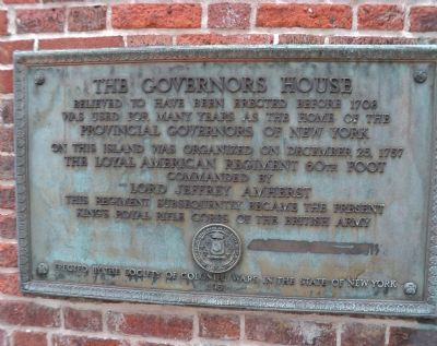 The Governors House Marker image. Click for full size.