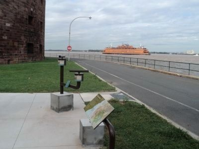 Markers on Governors Island image. Click for full size.