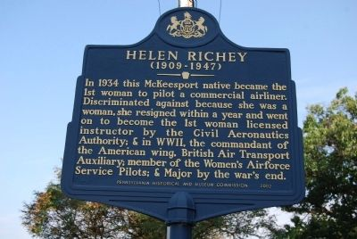 Helen Richey Marker image. Click for full size.